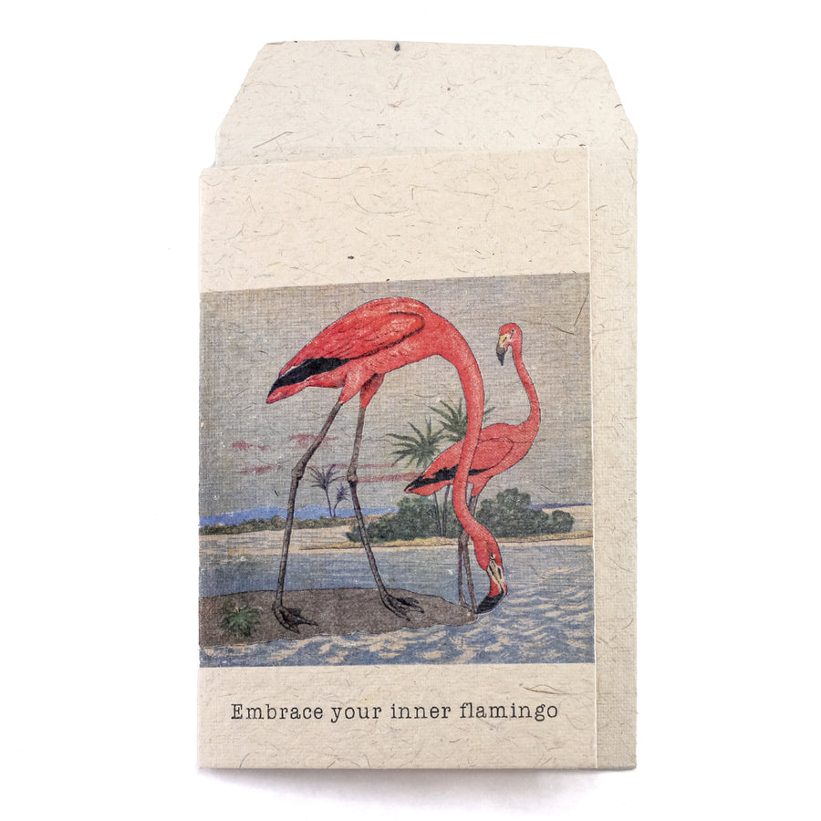 Inner Flamingo Greeting Card