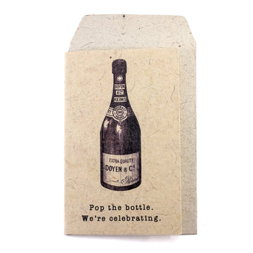 Pop The Bottle Greeting Card