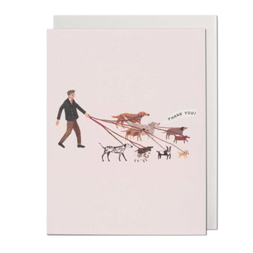Dog Walker Thank You Card