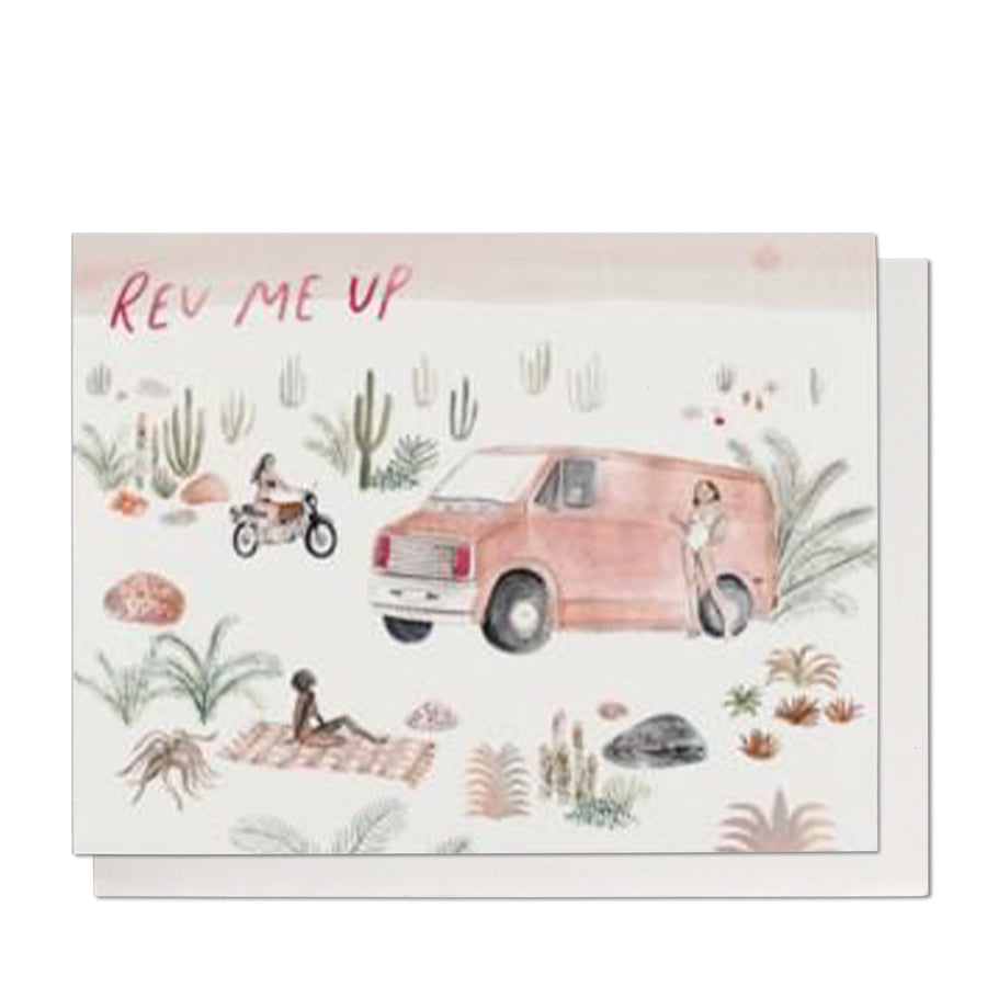 Rev Me Up Greeting Card