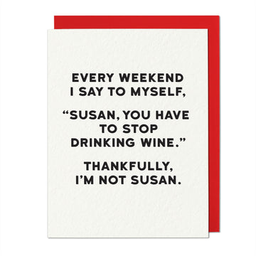 Susan Greeting Card