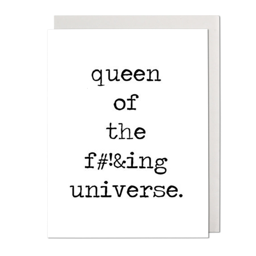 Queen of the Universe Birthday Card