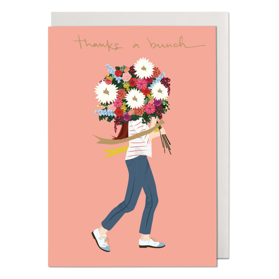 Flower Bunch Thank You Card