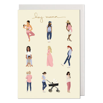 Hey Mama Greeting Card