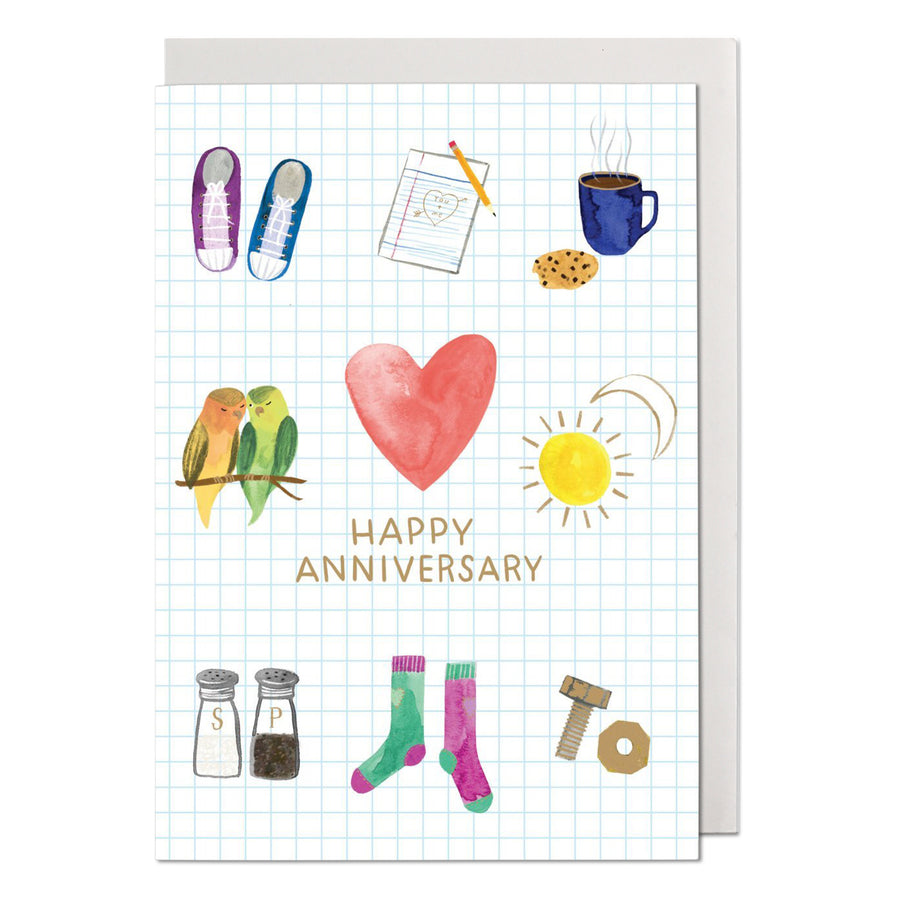 Happy Anniversary Two of a Kind Greeting Card