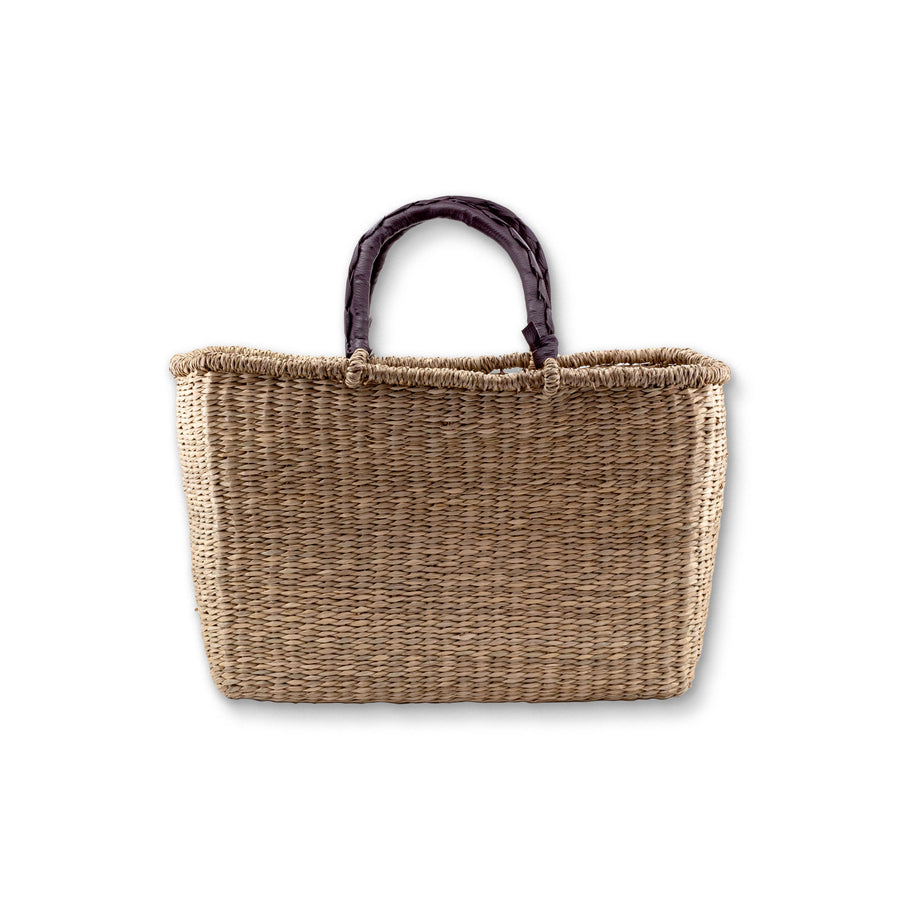 Seagrass Rectangle Bag - Natural - Small