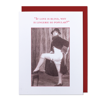If Love Is Blind Greeting Card