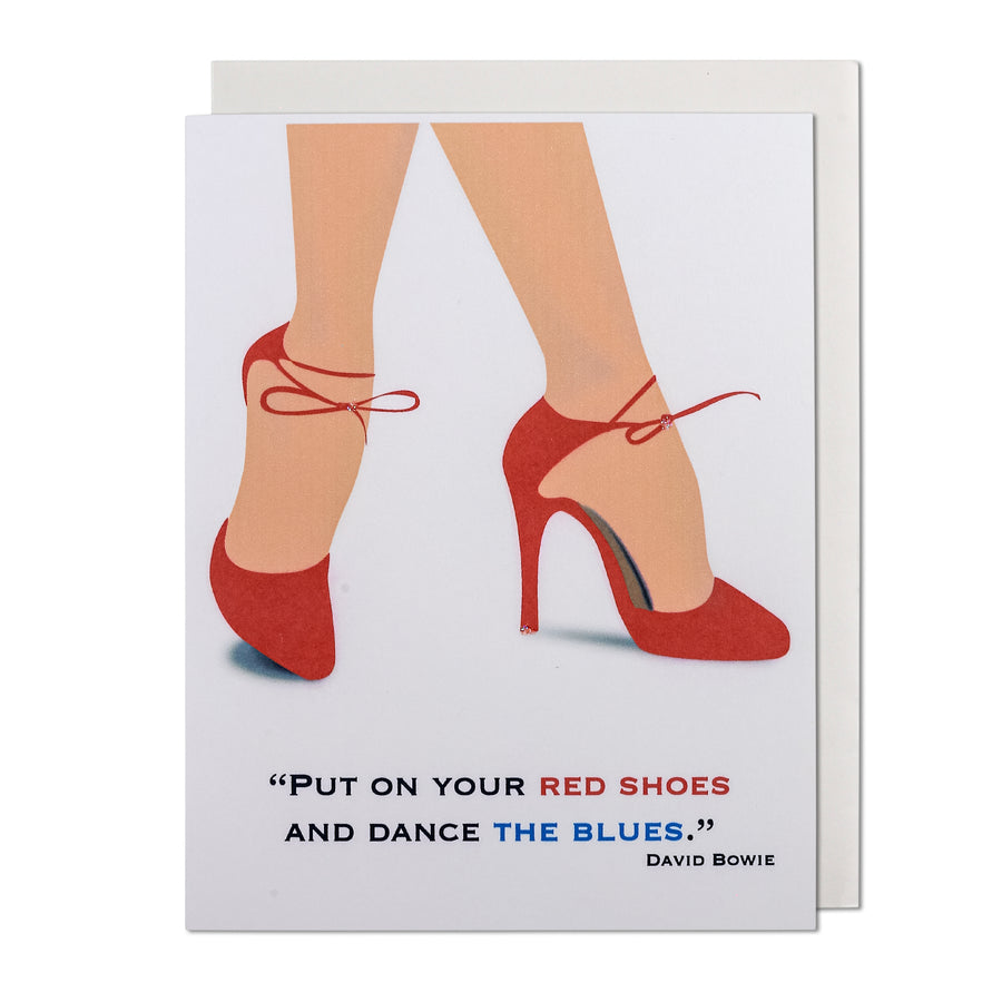 Red Shoes Dance Away the Blues David Bowie Greeting Card