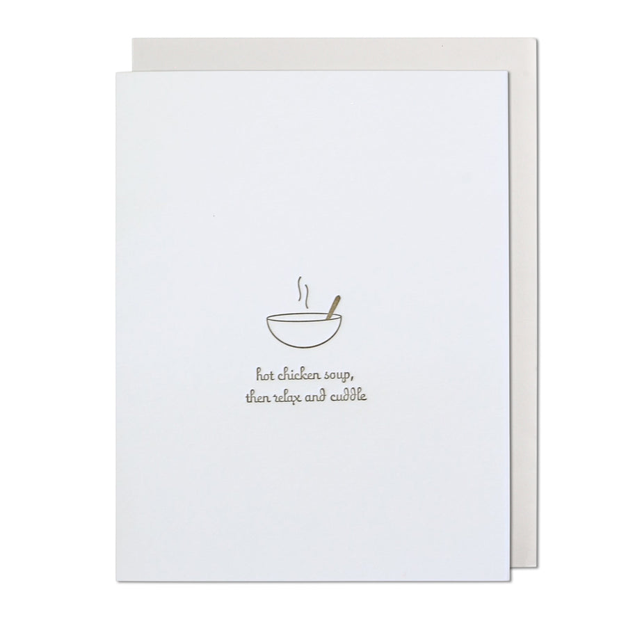 Hot Chicken Soup Greeting Card