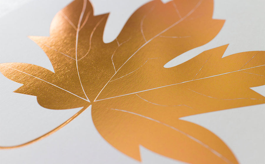 The Maple Leaf Letterpress Print