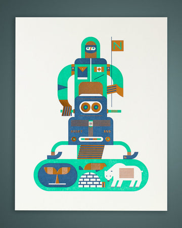 The Arctic Letterpress Print