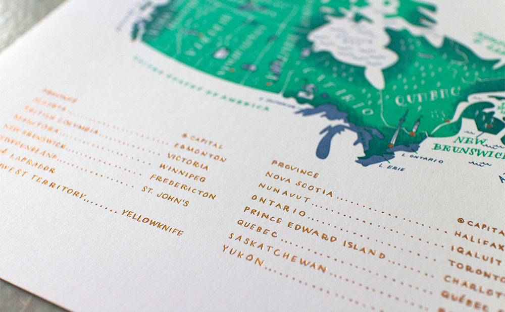 The Map Letterpress Print