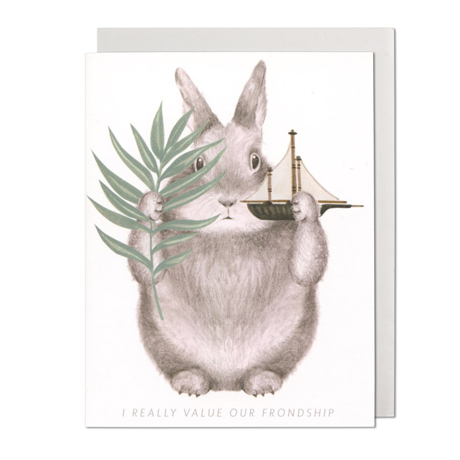 Friendship Bunny Greeting Card