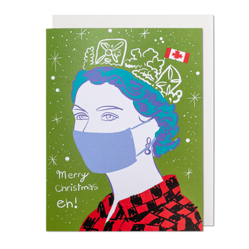COVID Queen Holiday Greeting Card