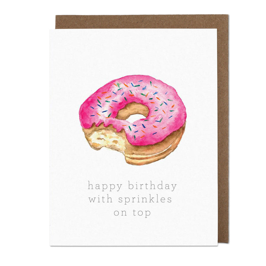 Sprinkles on Top Donut Birthday Card