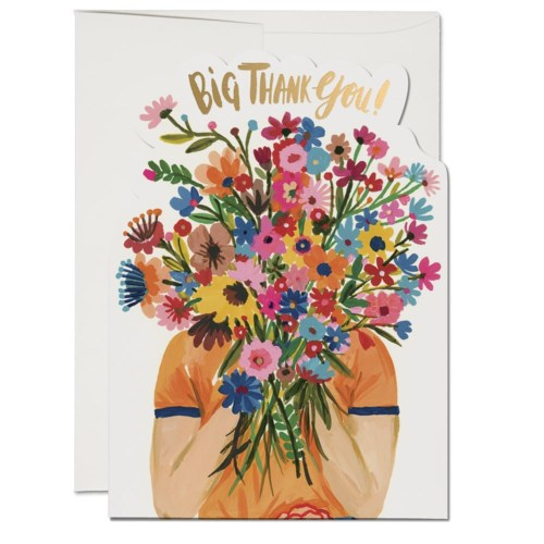 Face Full of Flowers Thank You Card