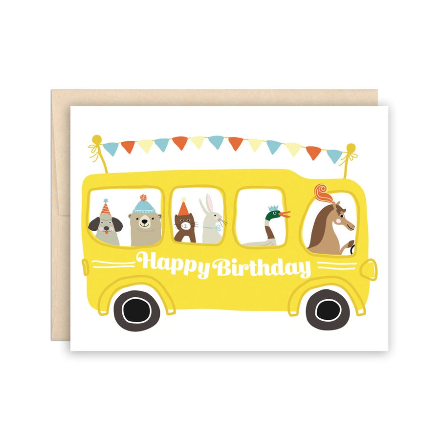 Birthday Bus Greeting Card
