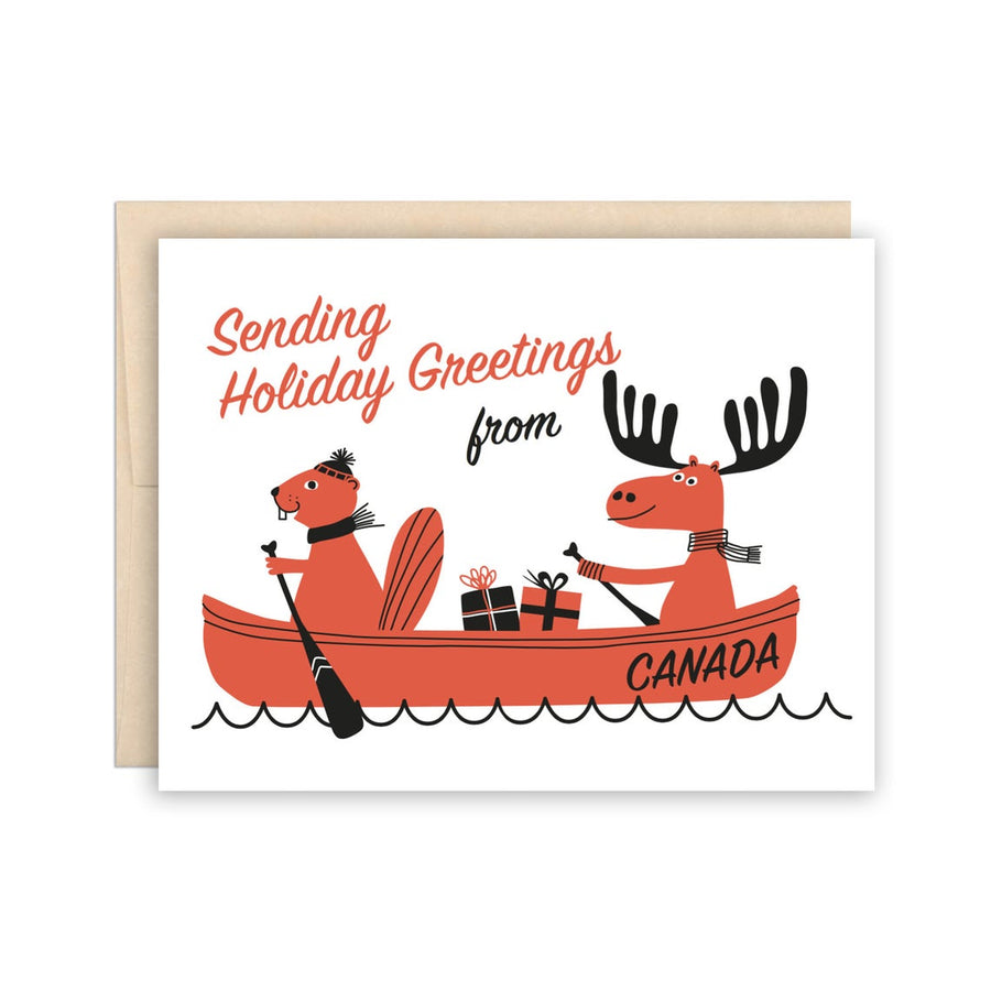 Canada Canoe Greeting Card