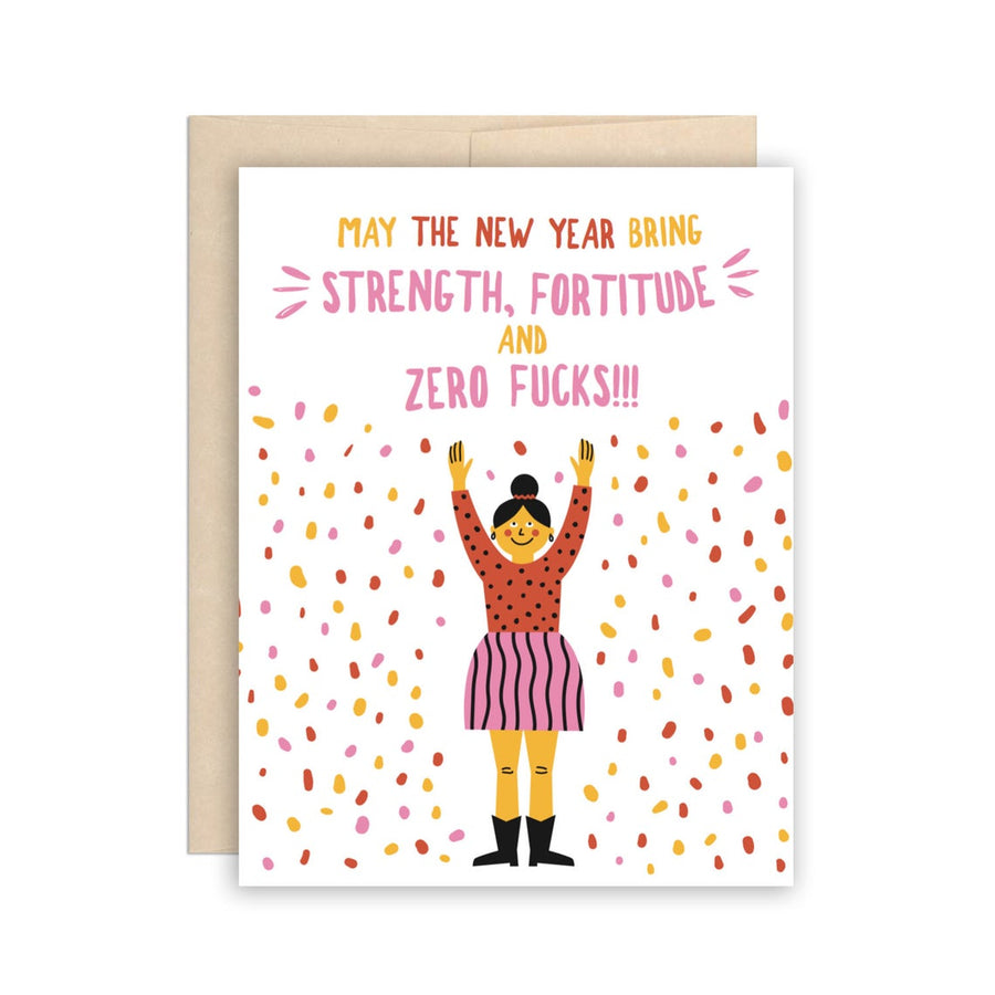 Zero Fucks Greeting Card