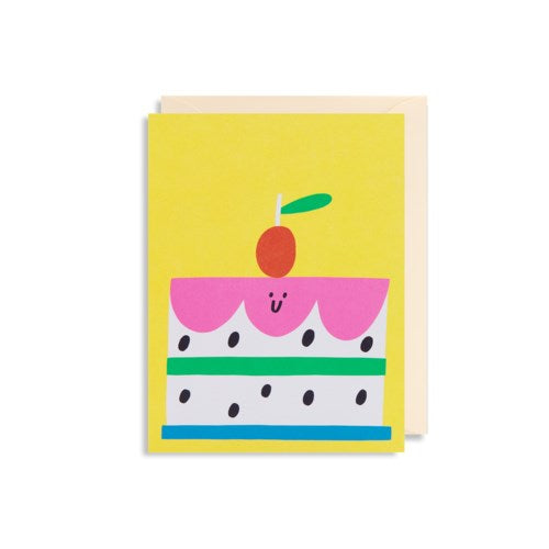Smiling Cake Birthday Card