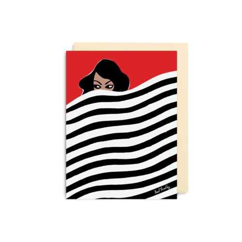 Stripe Tease Mini Greeting Card