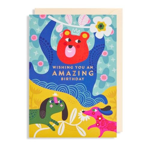 Amazing Birthday Bear Greeting Card