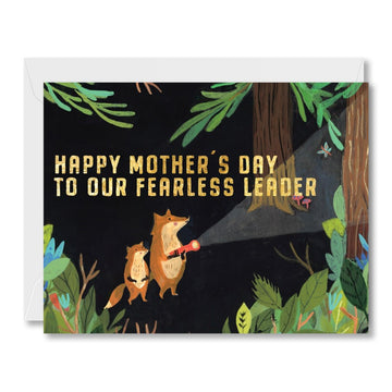 Fearless Leader Mom Greeting Card