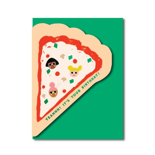 Pizza Slice Birthday Card
