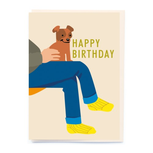 Lap Dog Birthday Card