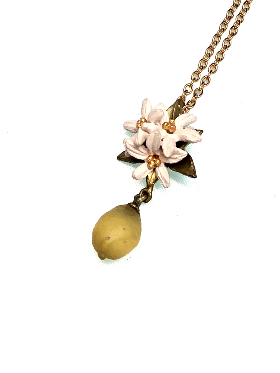 Michael Michaud Lemon Drop Flower Pendant