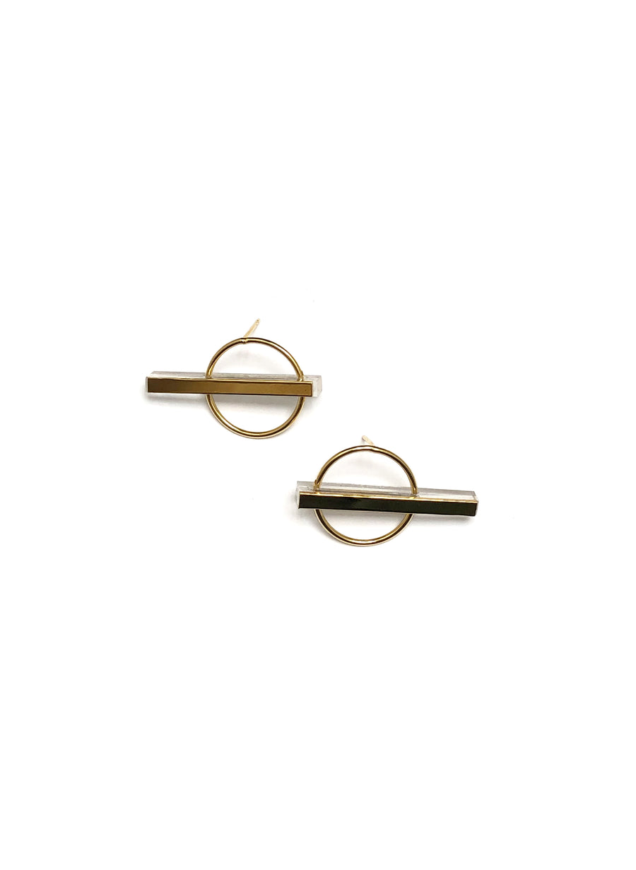 Helmut Paris - Pol Earrings in Clear