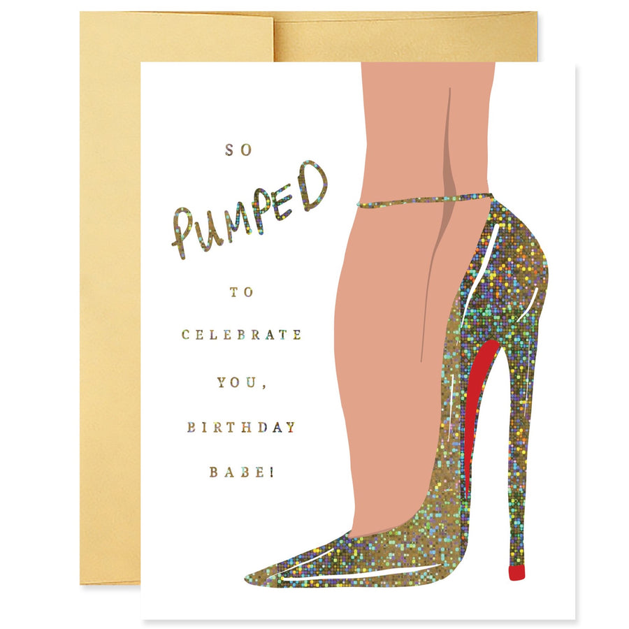 Party Pumps Birthday Card