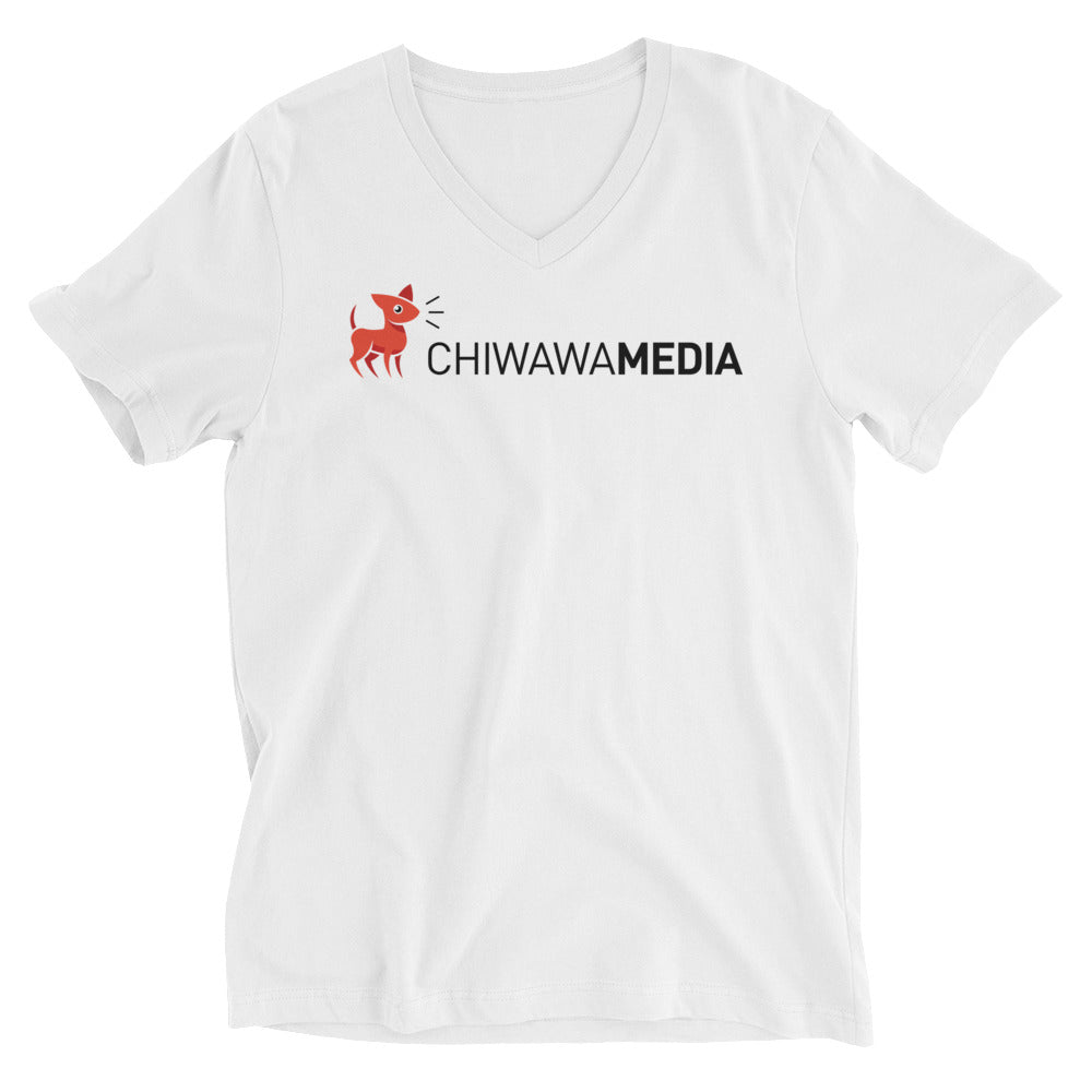 Unisex Short Sleeve V-Neck T-Shirt | Chiwawa Media