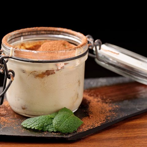 Irish Cream Ricotta Espresso Mousse recipe with fresh ricotta from a cheesemaking kit