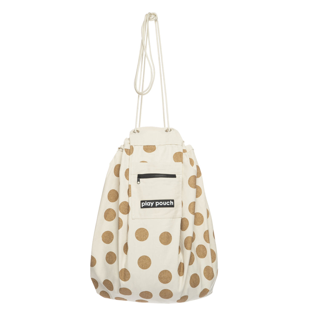 Glitter Gold Dot Printed Play Pouch