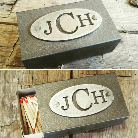 steel plate matchbox kitchen gift