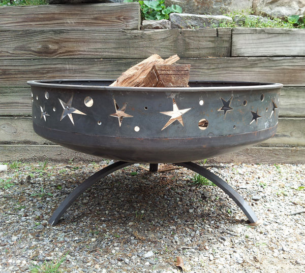 solid steel fire pit