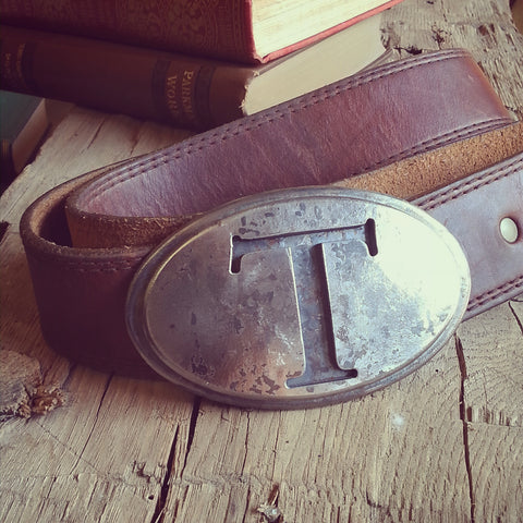 solid steel belt buckle personalized gift