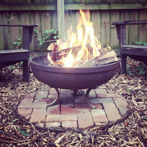 solid steel handmade fire pit
