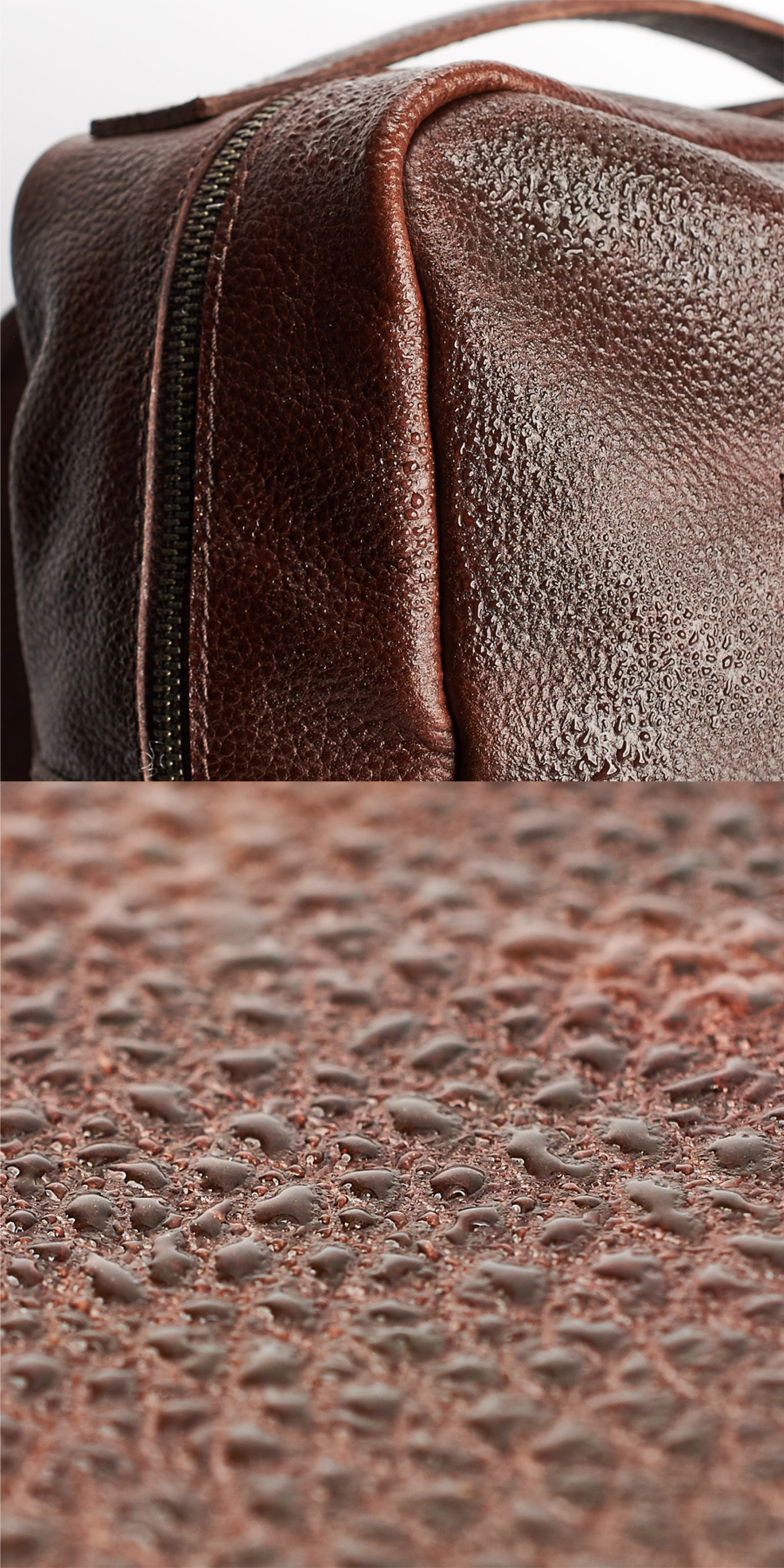 hydrofugated leather