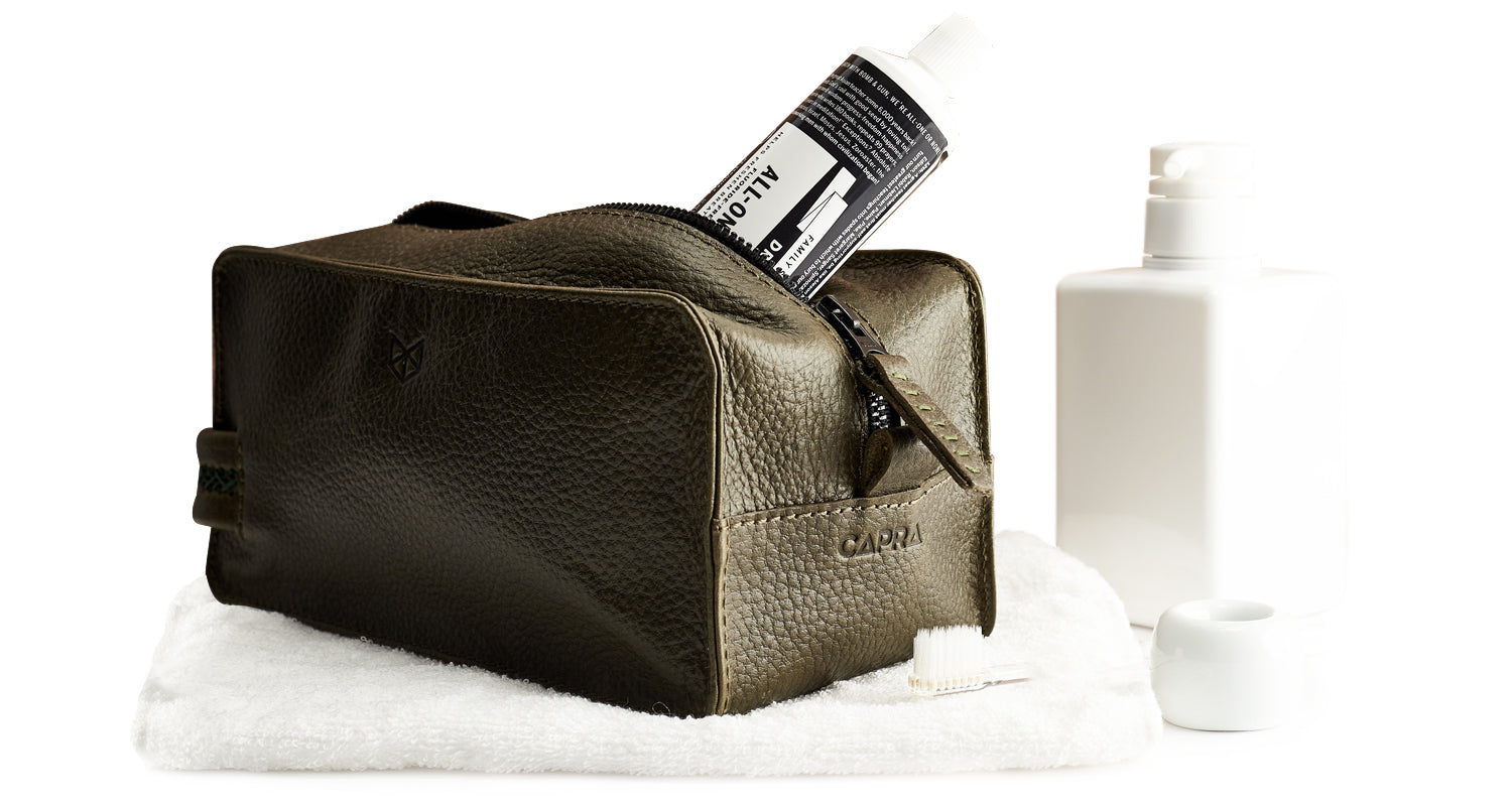 Leather waterproof toiletry