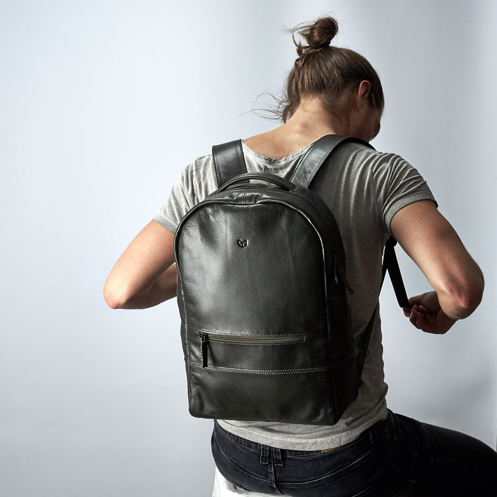 Green Bisonte Backpack Rucksack