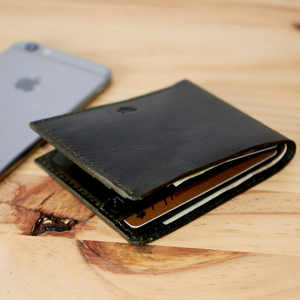 slim wallet for men handmade leather accessories