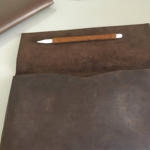 customer review handmade leather macbook case