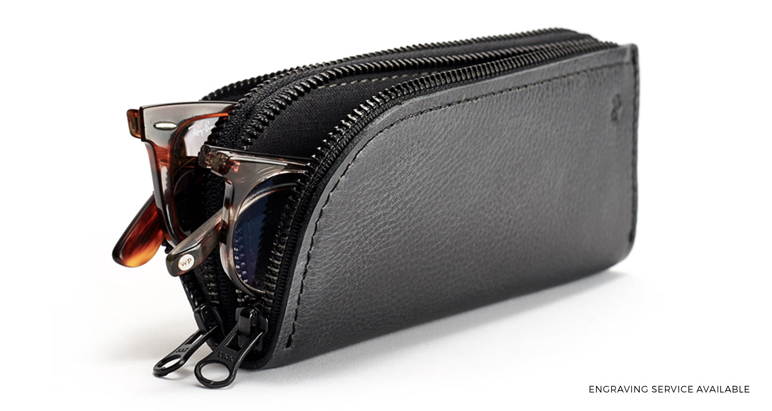 Double Glasses Case by Capra Leather