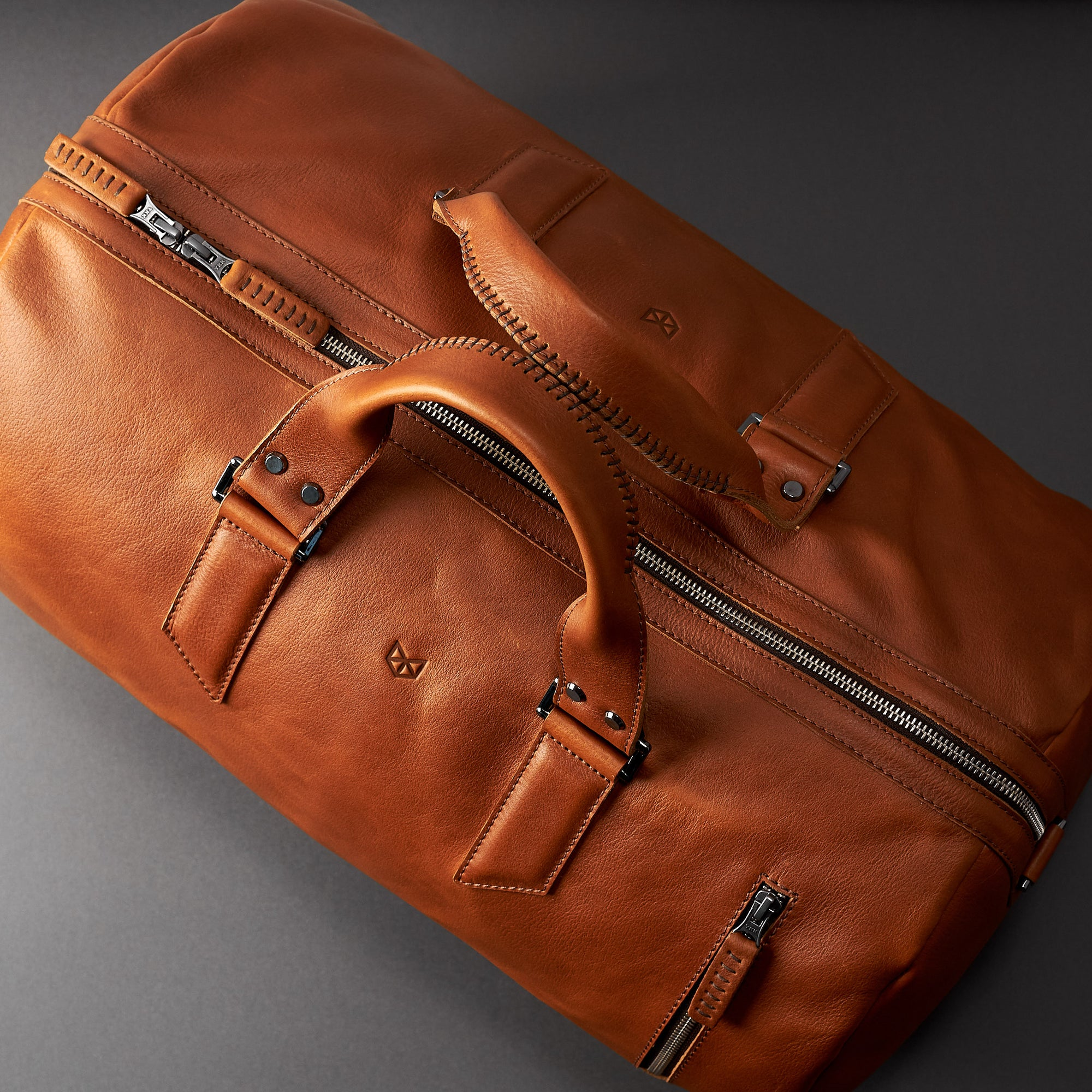 Substantial Leather Duffle Bag. Gifts for Men.