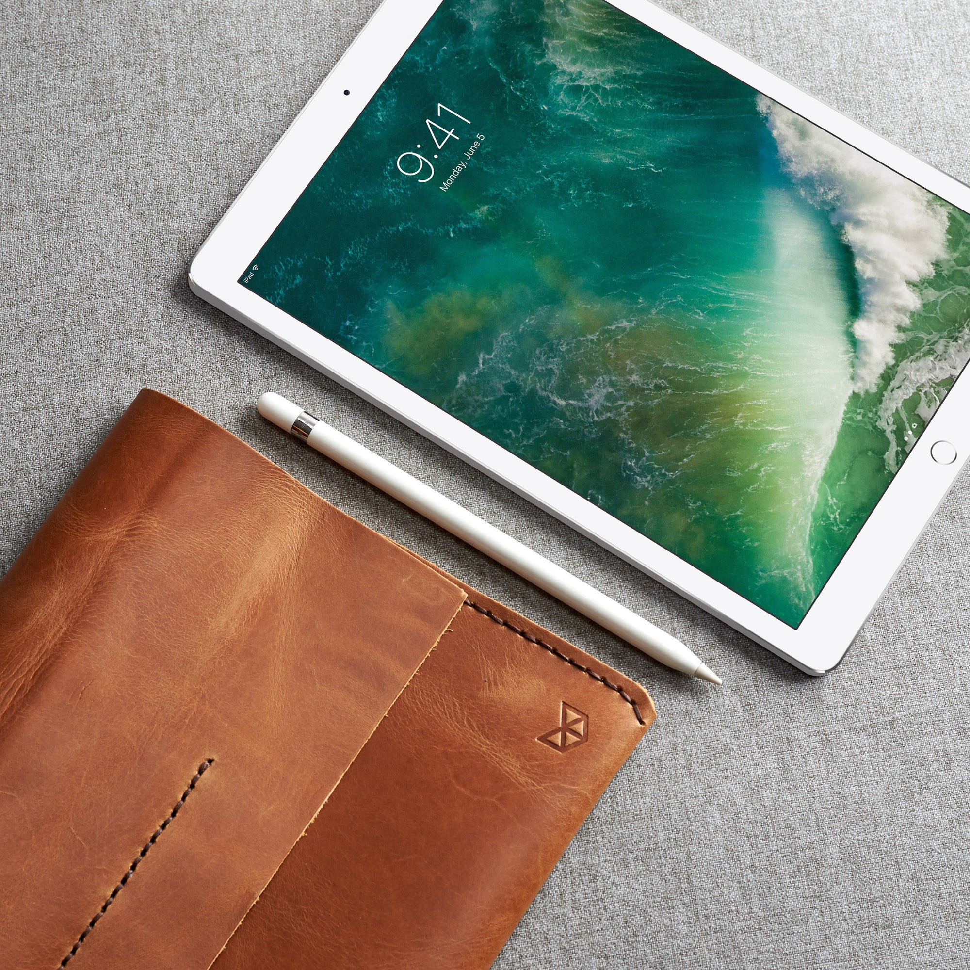 Hand Stitched Leather iPad Pro Cases Sleeves