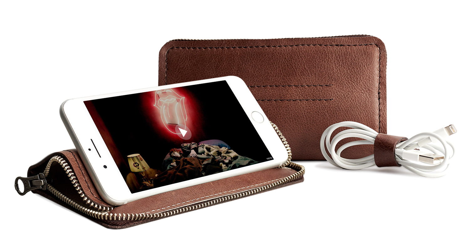 iPhone Wallet Stand by Capra Leather