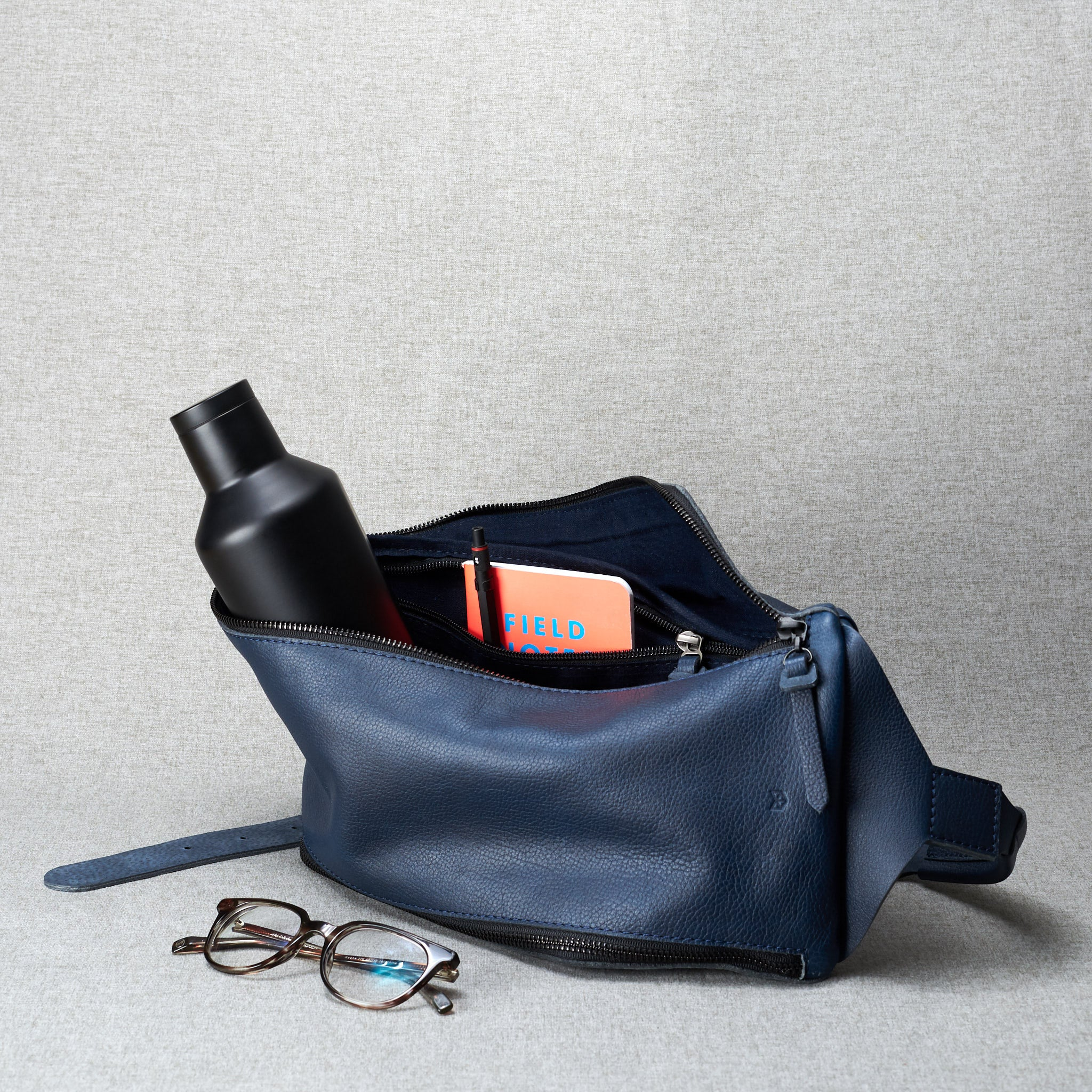 Sling Bag Navy by Capra Leather