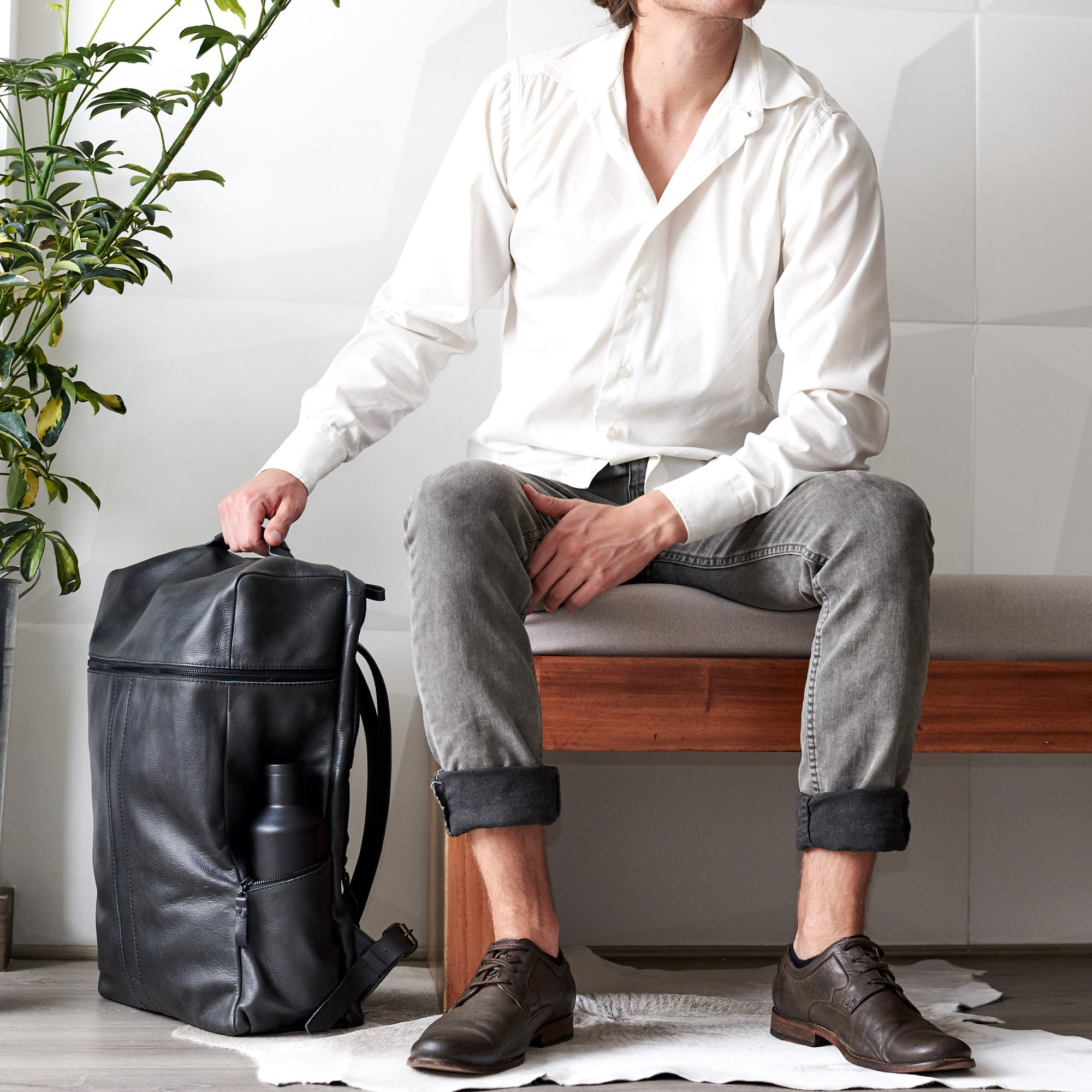 Banteng Leather Laptop Backpack for Men